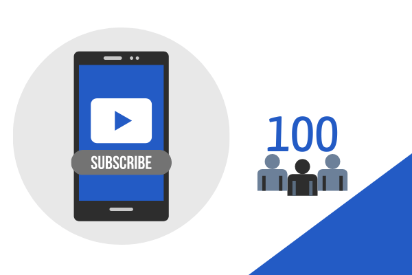 100 Subscribers on YouTube